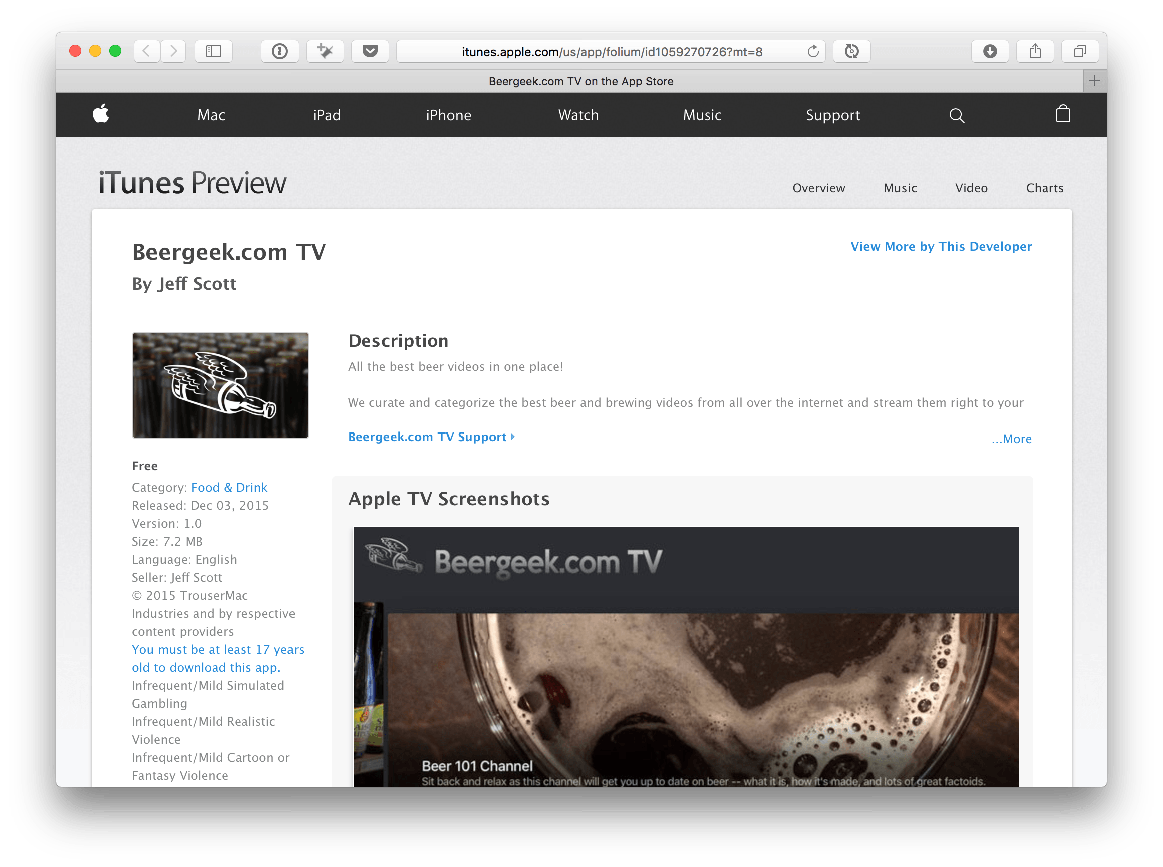 Apple Starts Rolling Out Web Previews for tvOS App Links MacStories